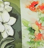 Green Poly Duck Tones Floral Cushion Cover by Leaf Designs
