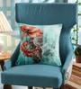 Leaf Designs Orange & Blue Poly Duck Cushion Cover