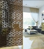 Flowery Wenge Acrylic with Wooden Lamination Room Divider by Planet Decor