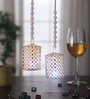 Multicolour Metal Circle Cage Big Moti Chain Led Toran - Set of 2 by Gupta Glass Gallery