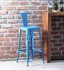 Raglan Bar Chair in Blue Colour by Bohemiana
