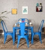 Kiena Four Seater Dining Set in Distress Finish by Bohemiana