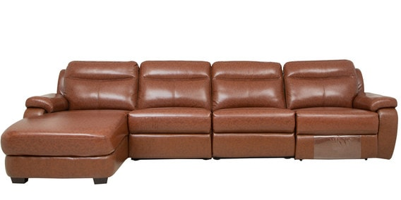 Swell Rhs Sofa With Motorized Recliner With Pure Leather In Tan Brown Colour By Star India Pabps2019 Chair Design Images Pabps2019Com