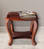 Liana End Table in Brown Finish