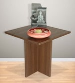 Lily End Table in Acacia Dark Matt Finish