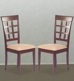 Lisa Dining Chair (Set of 2) in Indian Mahogany Finish