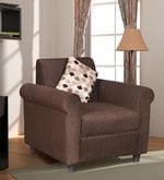 Lisa One Seater in Coffee Brown Colour
