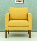 Litchi One Seater Sofa in Yellow Colour