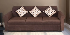 Lisa Three Seater in Coffee Brown Colour