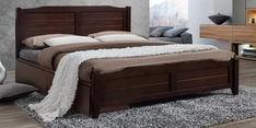 Hideo King Size Bed with Drawer Storage in Milan Walnut Finish