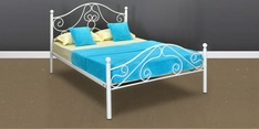 Lizzy Queen Size Bed in Grey Finish