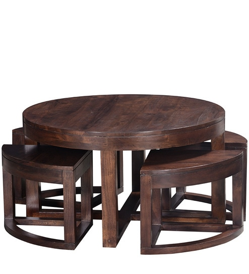 Buy Detroit Coffee Table Set In Provincial Teak Finish By