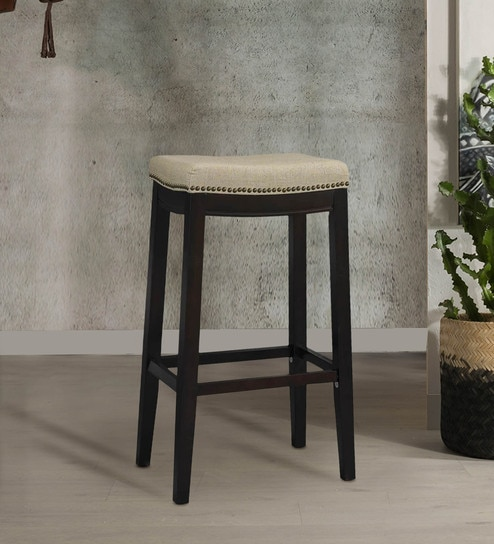 Terrific Linon Hampton Fabric Beige Bar Stool By Twigs Direct Unemploymentrelief Wooden Chair Designs For Living Room Unemploymentrelieforg