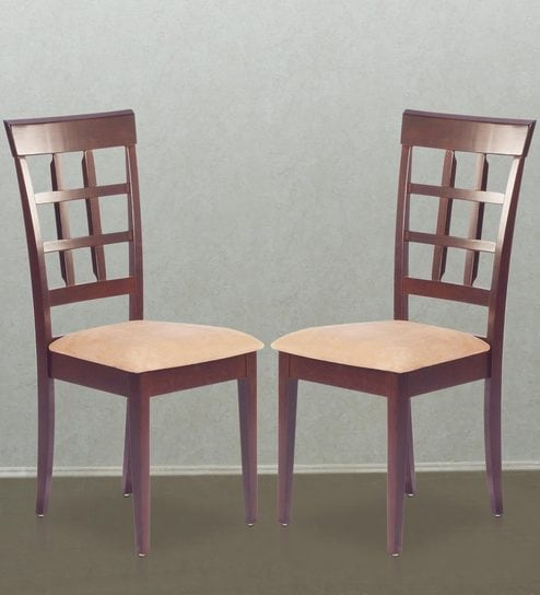 Buy Lisa Dining Chair (Set of 2) in Indian Mahogany Finish by Godrej ...