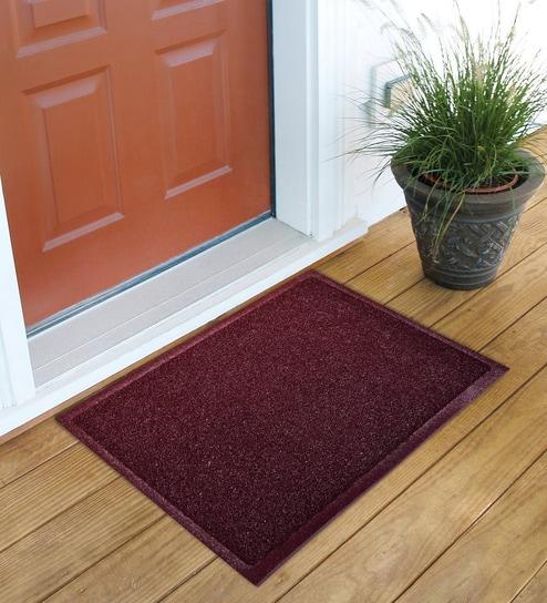 Lite Home Dark Brown Rectangular Polyester 22 X 15 Inch Door Mat