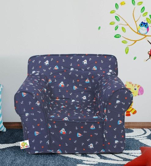 Little Joe Foam Arm Chair In Blue