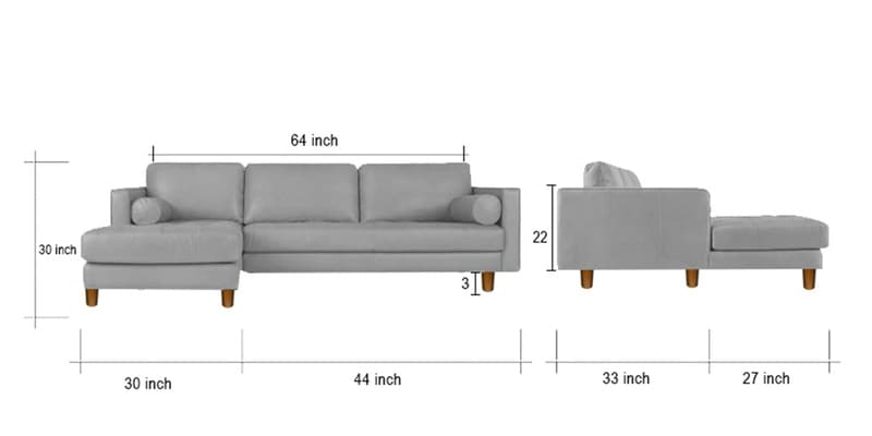 Buy Lisbon Rhs Sectional Sofa In Red Colour By Adorn Homez Online Contemporary Rhs Sectional