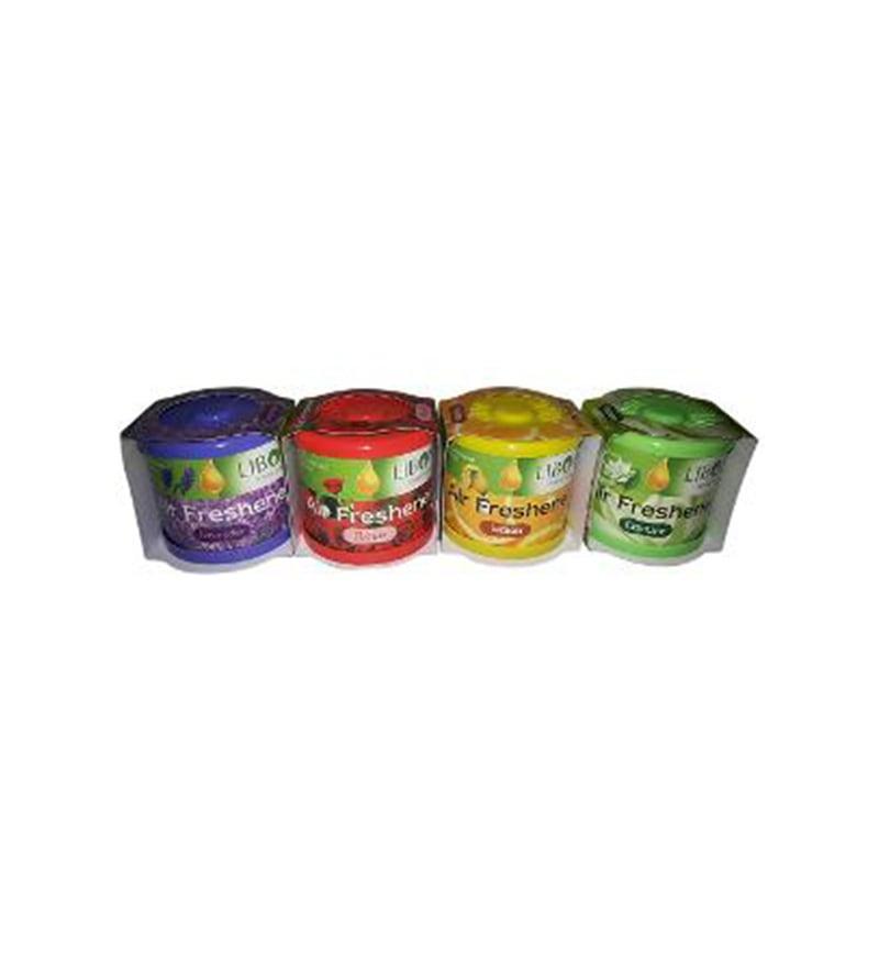 Liboni Roses, Lemon Lavender, Jasmine Gel Air Fresheners - Set of 4