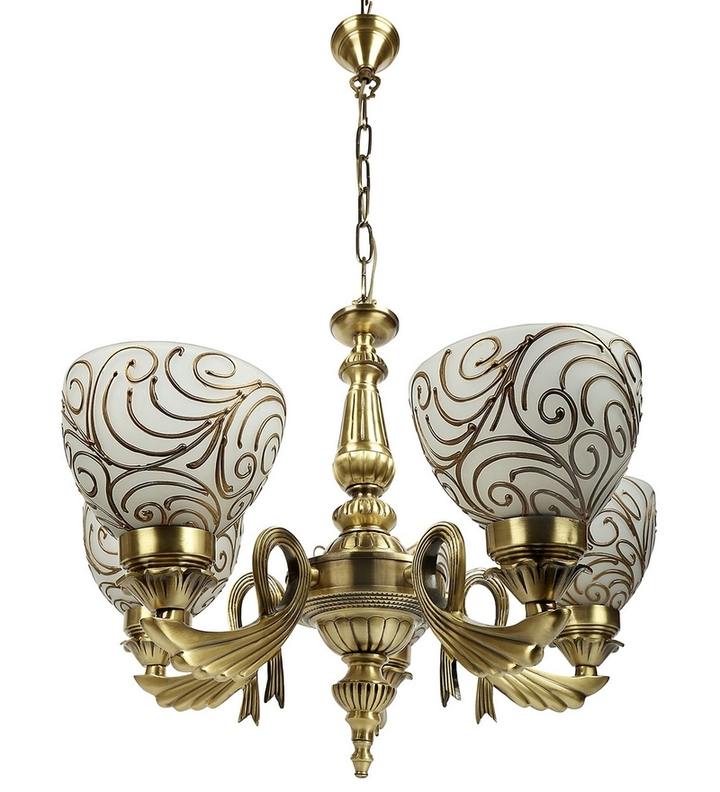 Gold Brass Chandelier by Lime Light