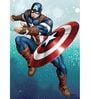 Licensed Marvel Captain America Digital Printed with Laminated Wall Poster by Orka