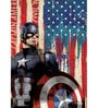 Licensed Marvel Captain America with Shield Digital Printed with Laminated Wall Poster by Orka