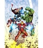 Licensed Marvel Team Avengers Digital Printed with Laminated Wall Poster by Orka