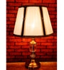Lightspro Brown and Off White Fabric Table Lamp