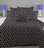 Linens Black & White Cotton Geometric Pattern 110 x 90 Inch Bed Sheet (with Pillow Covers)