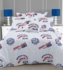 Multicolor Cotton Pop Culture 110 x 90 Inch Bed Sheet (with pillow covers) by Linens