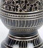 Black Brass Antique Golden Minakari Work Flower Vase by Little India