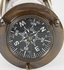 Brown Brass Real Direction Compass with 5 Minute Sand Timer by Little India