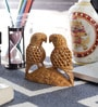 Little India Brown Wooden Fine Carved Parrot Handicraft Gift