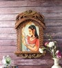 Little India Brown Wooden Jaipuri Lady Bani Thani Jharokha Photo Frame
