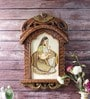Brown Wooden Rajasthani Lady Portrait Jharokha Photo Frame by Little India