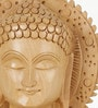 Brown Wooden Religious Carved Buddha Statue Gift by Little India