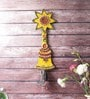 Cream Wooden Kundan Meenakari Aarty Bell Key Stand by Little India
