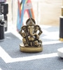 Little India Gold Brass Real Antique Lord Ganesha Beautiful Idol