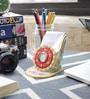 Little India Multicolour Marble Kundan Meenakari Mobile Stand