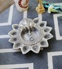 Little India Silver Metal Pretty God Ganesha Silver Dia Idol