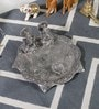 Silver Metal White Lord Laxmi Ganesh Idol with Dia Thali by Little India