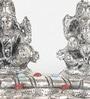 Silver Finish Metal Laxmi & Ganesh Idol By Little India