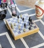 White Marble Real Makrana Chess Board Handicraft by Little India