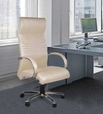 London High Back Executive Chair in Cream Colour