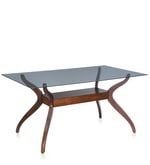 Lopez Six Seater Dining Table in Brown Colour