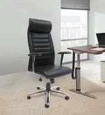 Los Angeles High Back Executive Chair in Black Colour