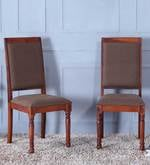 Louis Dining Chair (Set of 2) in Honey Oak Finish