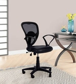 Low Back Ergonomic Chair in Black Colour