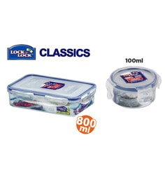 Lock&Lock Lunch Box Component Series 2 Pcs Container Set - 816ml,100ml