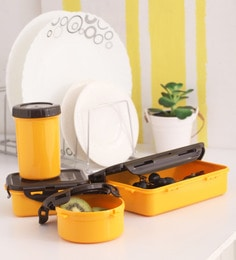 Lock&Lock Yellow Plastic Container - Set Of 4