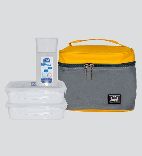 Plastic 470Ml Tiffin Bag - Set Of 3